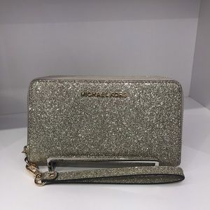 Michael Kors glitter sparkle phone wallet wristlet
